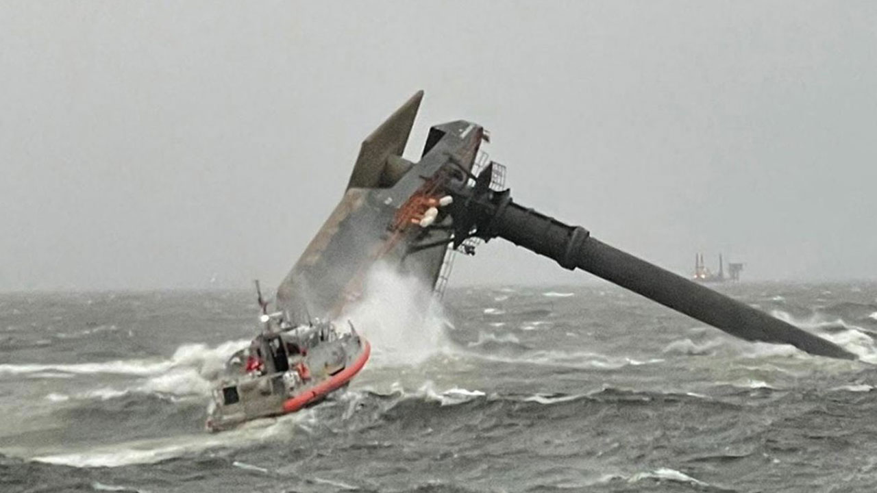 Six Rescued, Search On For 13 More After Lift Boat Capsizes In Rough Seas In Gulf Of Mexico Off Louisiana